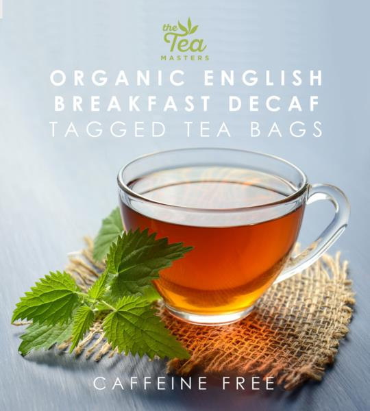 The Tea Masters Organic Tagged Teabags - Decaf Breakfast Tea (1x100) photo 3