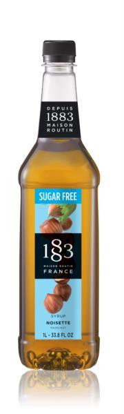 1883 Syrup (Sugar Free) - Hazelnut (1x1L)
