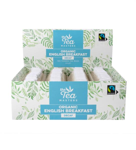 The Tea Masters Organic Tagged Teabags - Decaf Breakfast Tea (1x100) photo 9