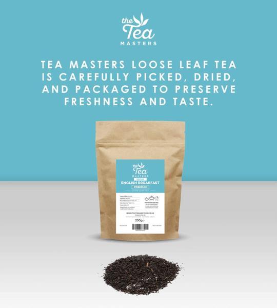 The Tea Masters Loose Leaf Tea - Decaf English Breakfast - Premium (1x250g) photo 7