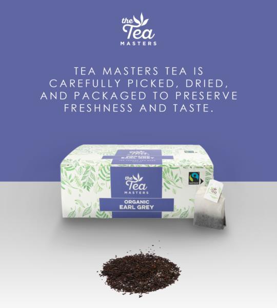 The Tea Masters Organic Tagged Teabags - Earl Grey Tea (1x100) photo 8
