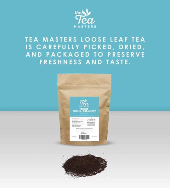 The Tea Masters Loose Leaf Tea - Decaf English Breakfast - Fannings (1x250g) photo 6