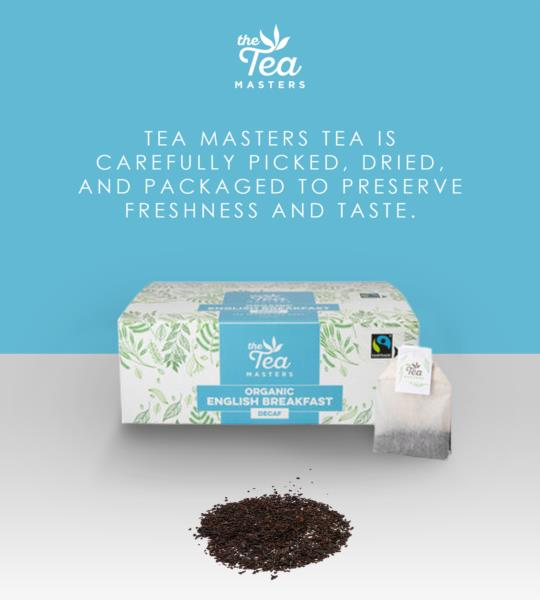 The Tea Masters Organic Tagged Teabags - Decaf Breakfast Tea (1x100) photo 8
