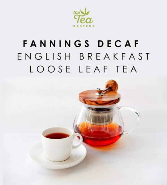 The Tea Masters Loose Leaf Tea - Decaf English Breakfast - Fannings (1x250g) photo 4