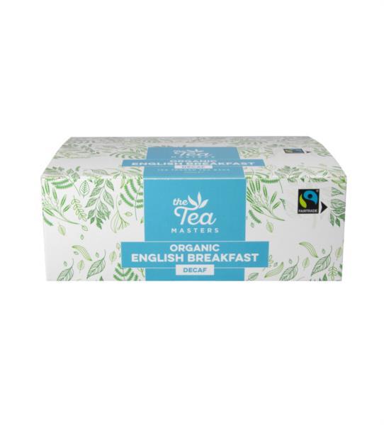 The Tea Masters Organic Tagged Teabags - Decaf Breakfast Tea (1x100) photo 2
