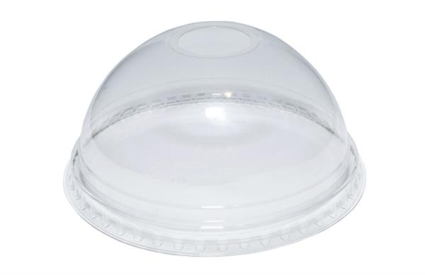 Disposable rPET Smoothie Lids - Dome - 16-24oz (80% recycled) (1x1000)