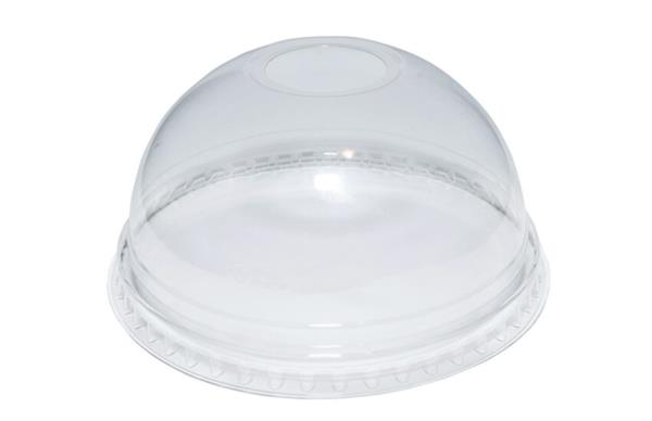 Disposable rPET Smoothie Lids - Dome - 12oz (80% recycled) (1x50)