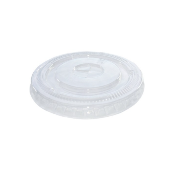 Disposable rPET Smoothie Lids - Flat - 12oz (80% recycled) (1x50)