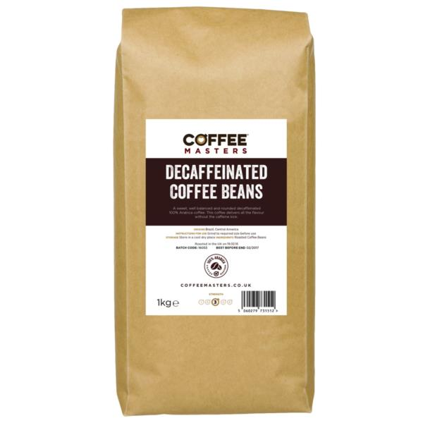 Coffee Masters - Decaffeinated Coffee Beans (2x1kg)
