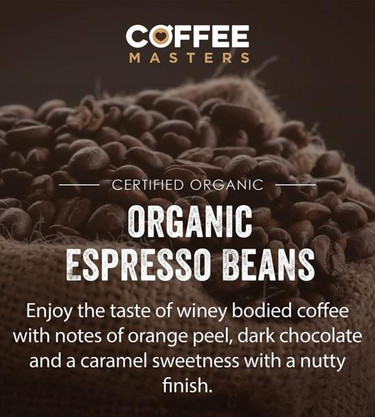 Coffee Masters - Colombian Organic Fairtrade Blend Coffee Beans (1x250g) photo 3