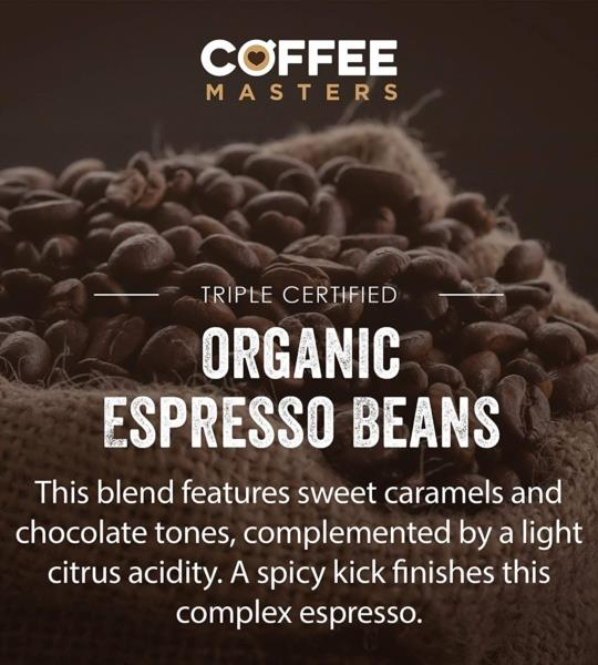 Coffee Masters - Triple Certified Organic Blend Coffee Beans (1x1kg) photo 9