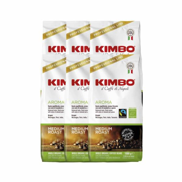 Kimbo Fairtrade Organic Bio Beans (6x1kg)