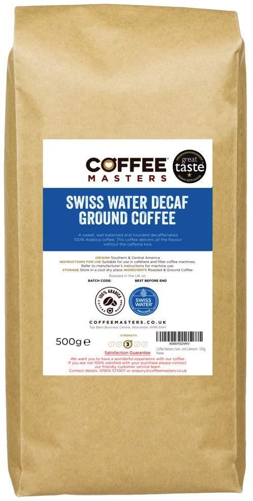 Coffee Masters - Swiss Water Decaf Ground Coffee (1x500g)