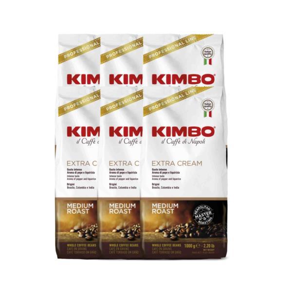 Kimbo Extra Cream Premium Italian Espresso Beans (6x1kg)