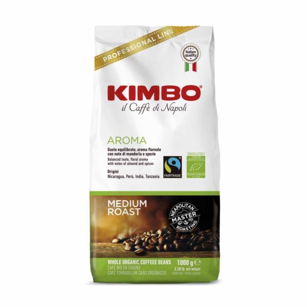 Kimbo Fairtrade Organic Bio Beans (1x1kg)