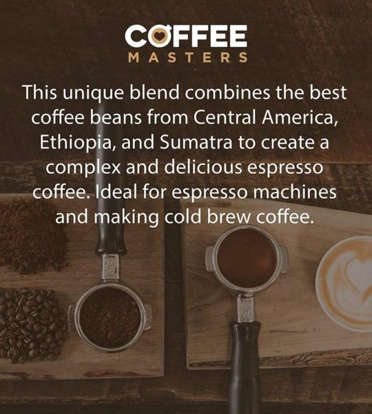 Coffee Masters - Triple Certified Organic Blend Coffee Beans (2x1kg) photo 10