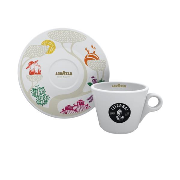 Lavazza Tierra 10oz Cappuccino Cup & Saucer (1x6)