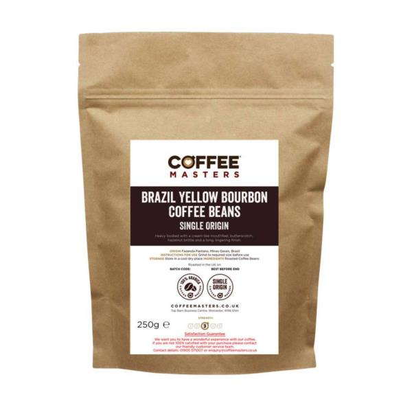 Coffee Masters - Brazil Yellow Bourbon Coffee Beans (1x250g)