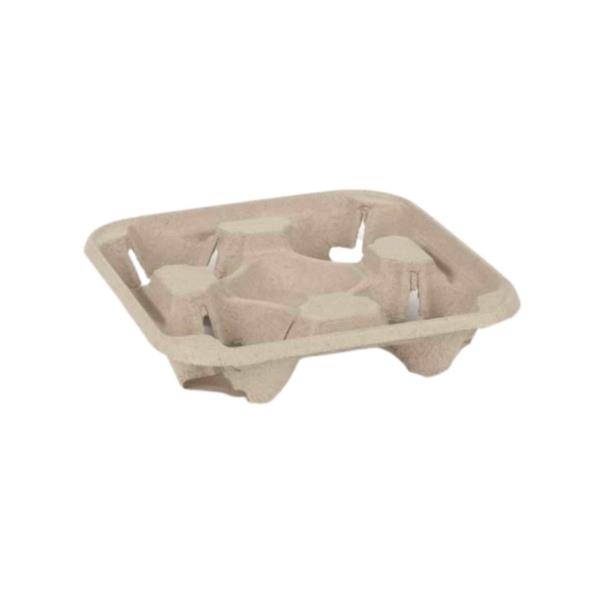 Compostable Cup carry tray - 4 cup (1x130)