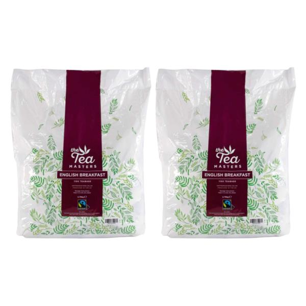 The Tea Masters Fairtrade Catering Teabags (2x1100)