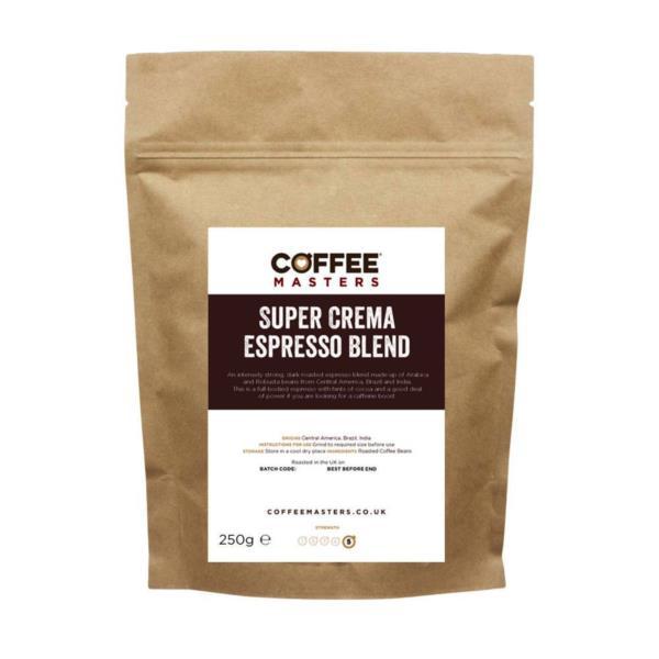 Coffee Masters - Super Crema Blend Coffee Beans (1x250g)