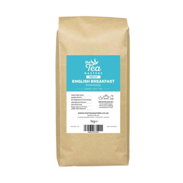 The Tea Masters Loose Leaf Tea - Decaf English Breakfast - Fannings (1x1kg)