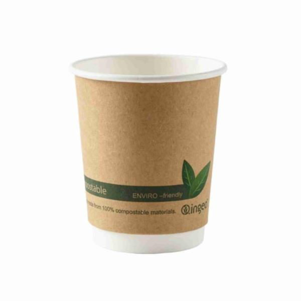 Compostable Double Wall Brown Kraft Cup 16oz (500)