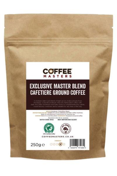 Coffee Masters - Exclusive Master Blend Cafetiere Ground Coffee (1x250g)