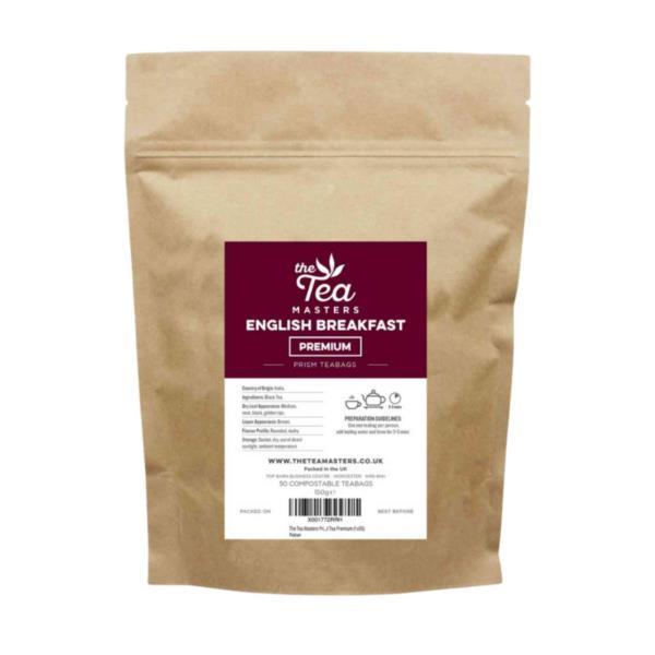 The Tea Masters Prism Teabags - Breakfast Tea - Premium (1x50) photo 1