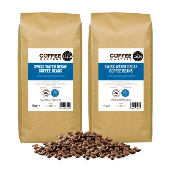 Coffee Masters - Swiss Water Decaf Coffee Beans (2x1kg)