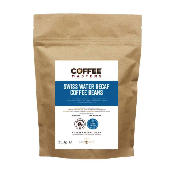 Coffee Masters - Swiss Water Decaf Coffee Beans (1x250g)