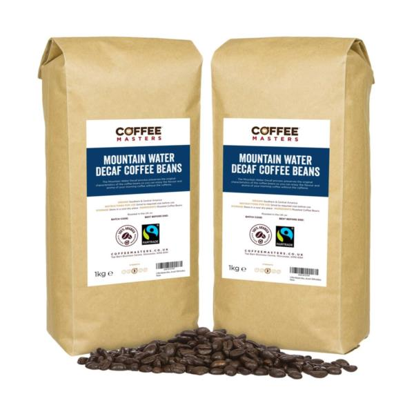 Coffee Masters - Mountain Water Decaf Coffee Beans (2x1kg)