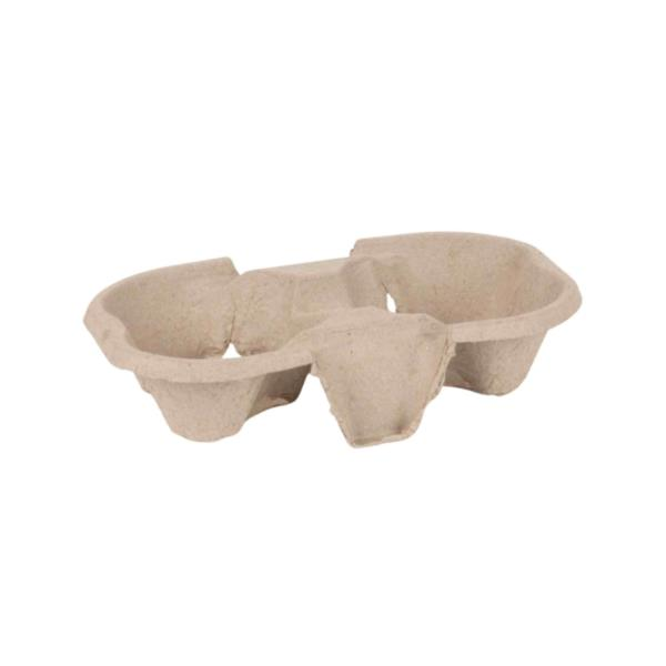 Compostable Cup carry tray - 2 cup (1x150) photo 1