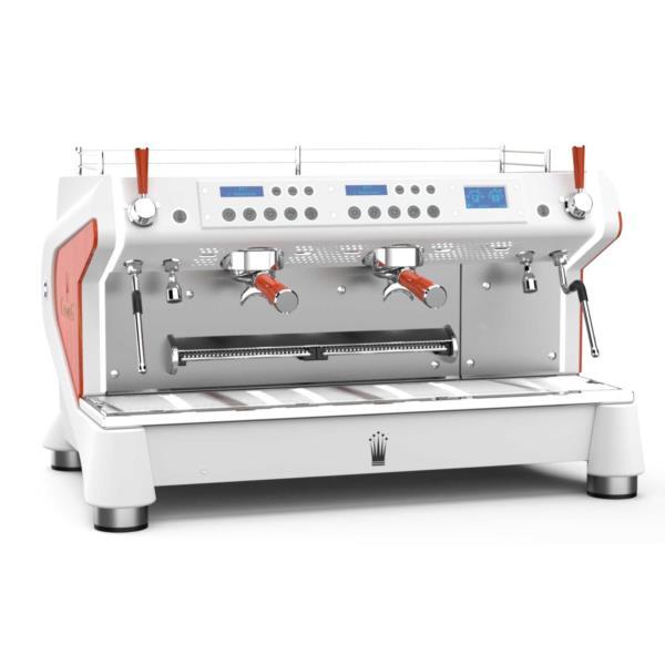 Conti Monte Carlo M2 - White & Wood Coffee Machine